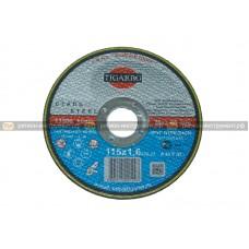 Круг отрезной TIGARBO 115x1,6x22 (сталь)